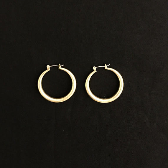 Scratch circle design pierce / 05 #GOLD