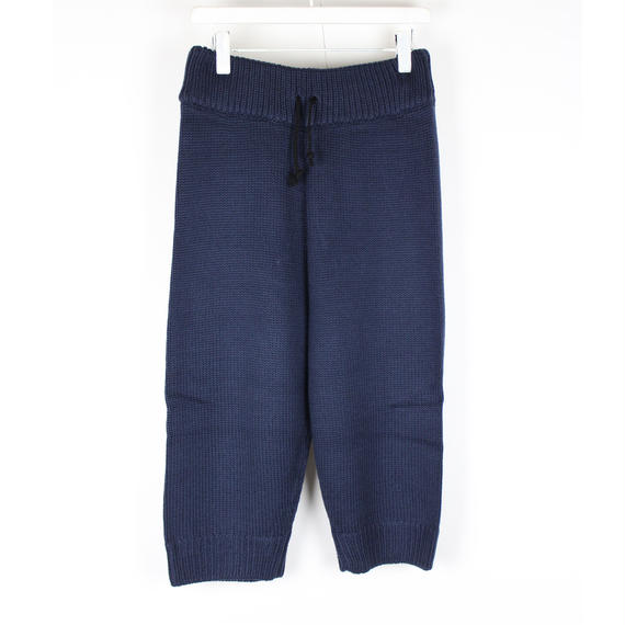 SOFT KNIT PANTS / NAVY