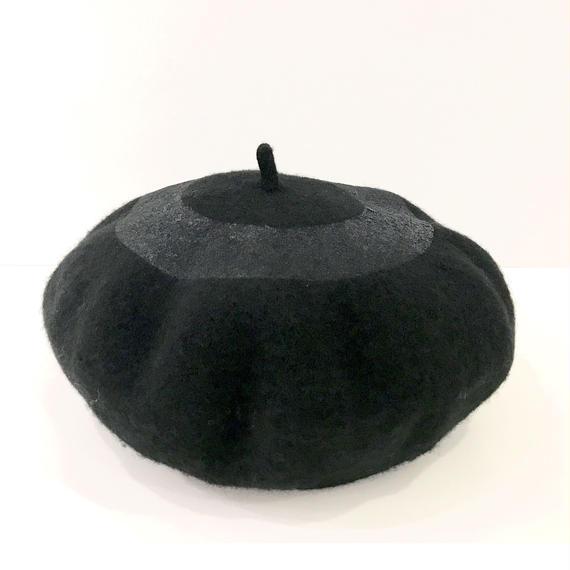 ○ベレー帽 BLACK  / 1810-813