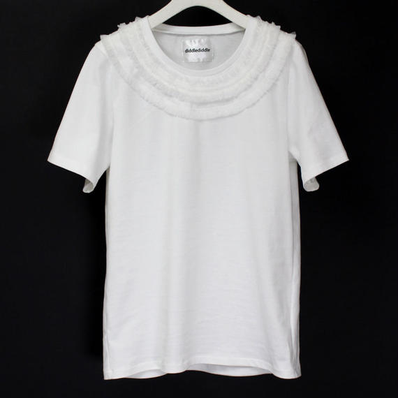 NECK LACE T-SHIRTS / 11 WHITE