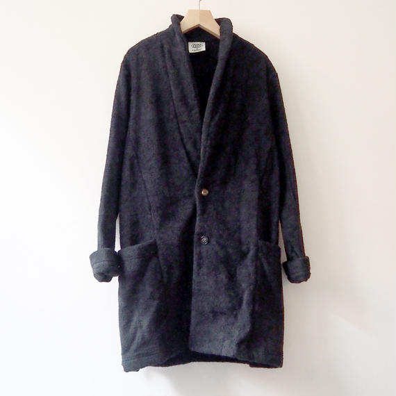 THING FABRICS  Collar Coat(long pile)  Black