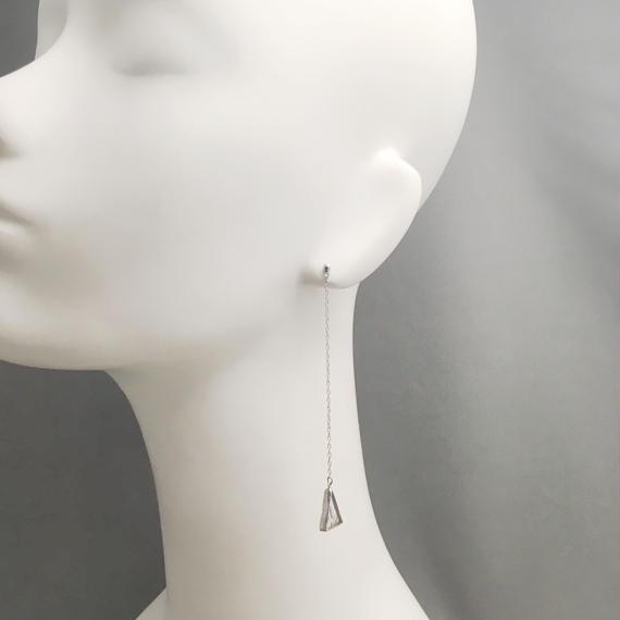 [NEW] ロングタイプ KAKERA  Hanging Pierce  両耳 [別売イヤリング交換可能]