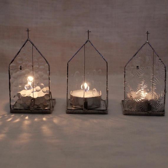 Church Candle Holder クリアガラス × シルバー