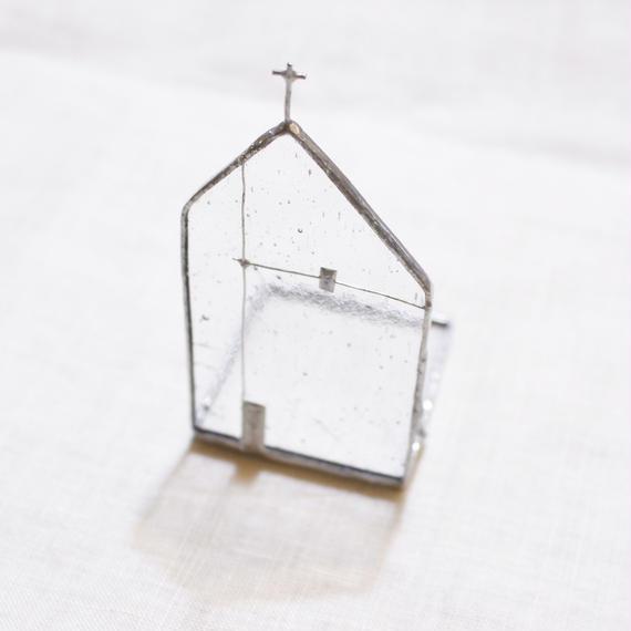 Church Candle Holder  クリア × シルバー  01