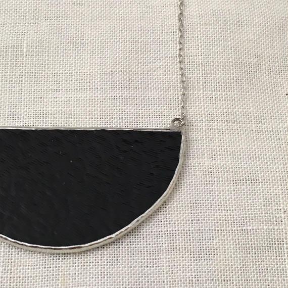 Semi circle Necklace -  Black