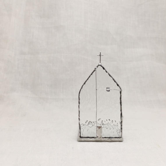 Church Candle Holder  28 キラキラクリア