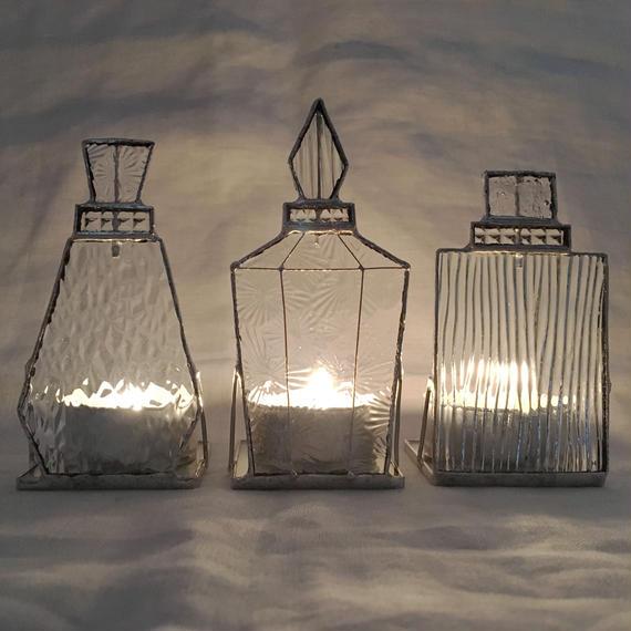 【受注制作】Perfume Bottle Candle Holder  お得な3個セット