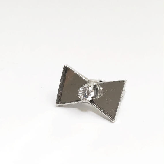 Mirror Ribbon Ring  ジルコニア【フリーサイズ】