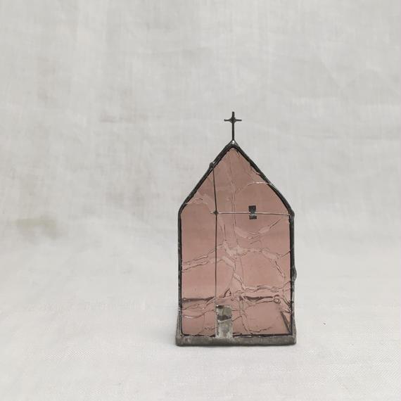 Church Candle Holder  21 アンティーク仕上げ   ピンクパープル