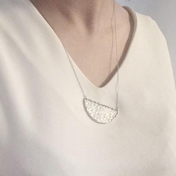Semi circle Necklace - 凹凸 02