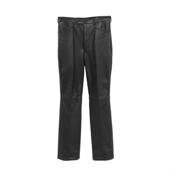 "JOHN LAWRENCE SULLIVAN ""LETHER TAPERED TROUSERS """