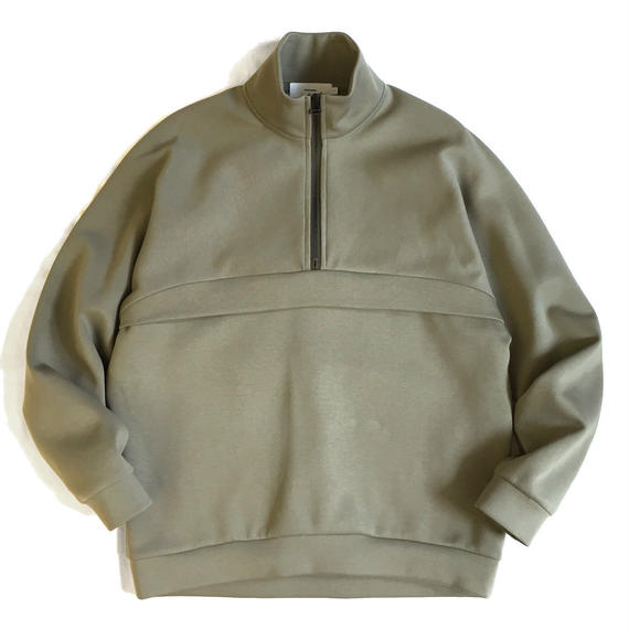 Graphpaper MILITARY JERSEY HALF ZIP PULLOVER