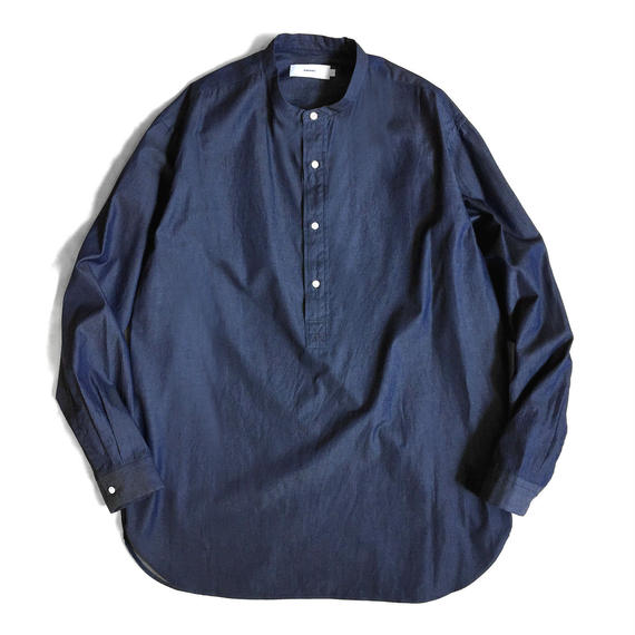 Graphpaper Indigo Band Collar Shirt