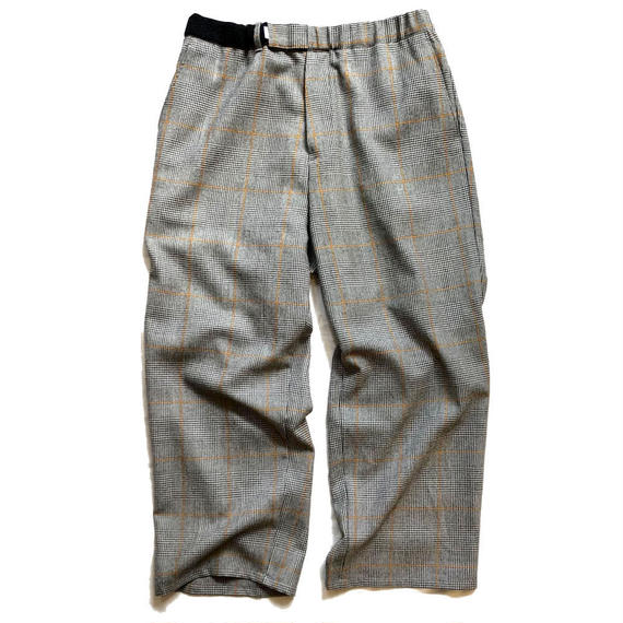 Graphpaper  Glencheck Wool Wide Cook Pants