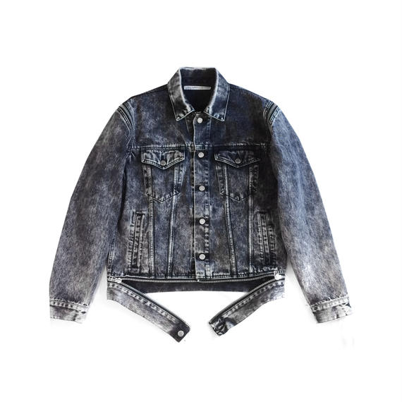 "JOHN LAWRENCE SULLIVAN ""ARM ZIP DENIM JACKET"""