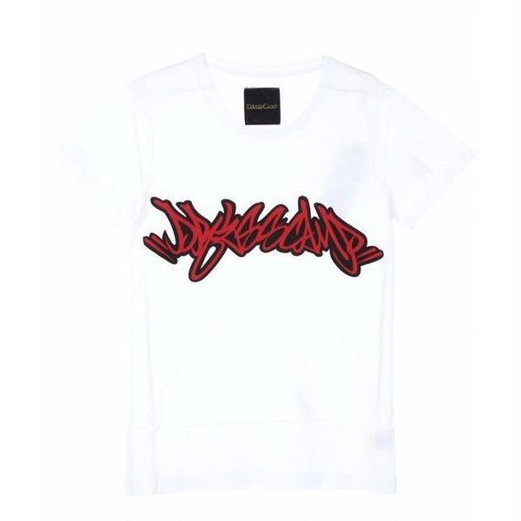 DRESSCAMPタギングプリント白地Tシャツ / 35