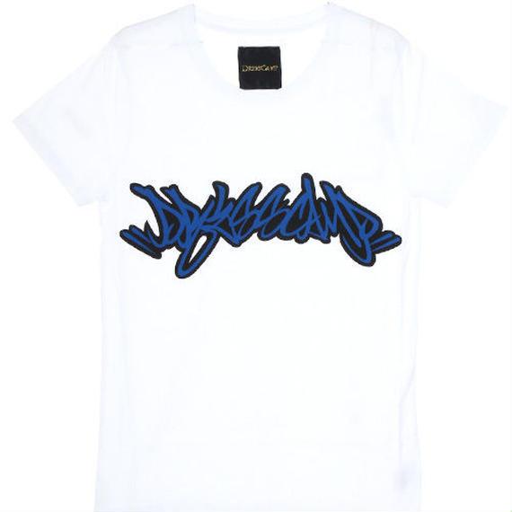DRESSCAMPタギングプリント白地Tシャツ / 77