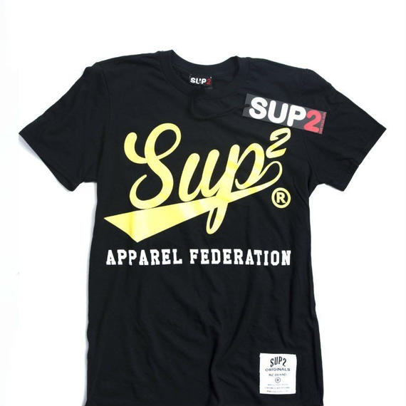 APPAREL FEDERATION MENS TEE (Black/Yellow)