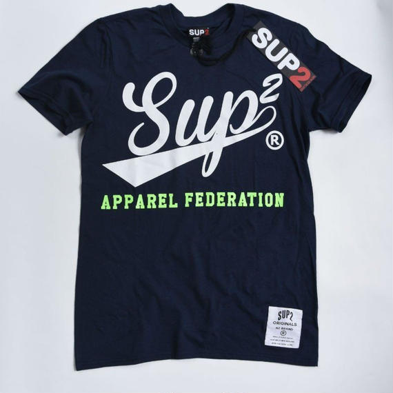 APPAREL FEDERATION MENS TEE (Navy/White)