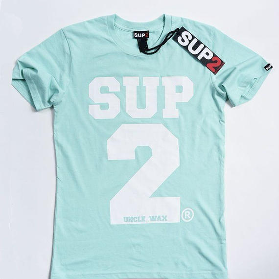 BIG BLOCK MENS TEE-MONO(Mint/White)