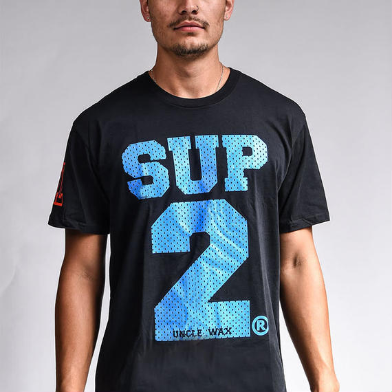 SUP2 MESH PRINT TEE (Black/Blue)