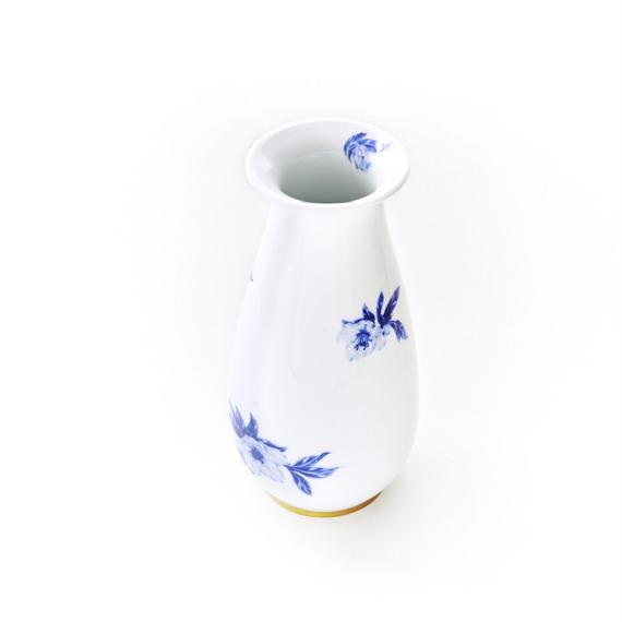 深川製磁 オリエンタルブルー花瓶