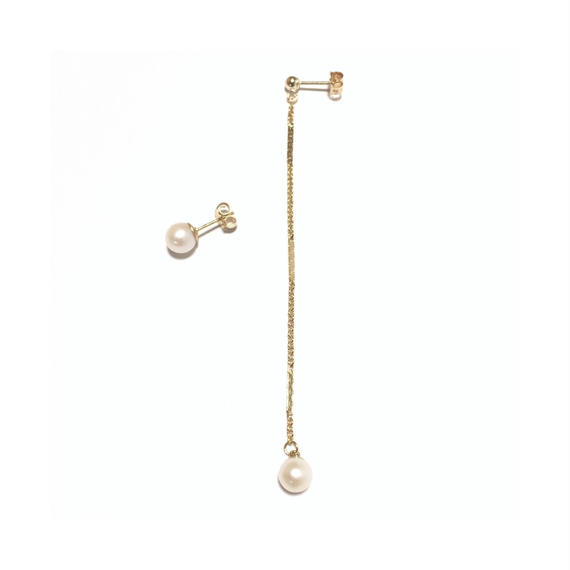 Asymmetry  pearl  pierced