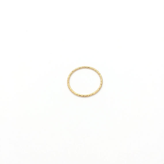 Shining gold ring