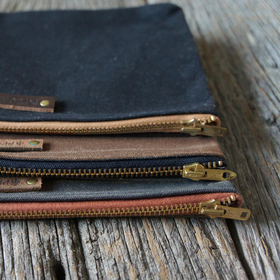 PEG&AWL | Large Waxed Canvas Pouch