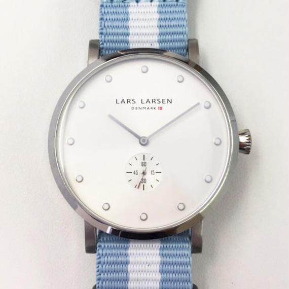 【Fortune Square 特別モデル】LLARSEN LW32 ナイロンストラップバージョン 交換用レザーベルト付 ホワイト/132SWCZ N1