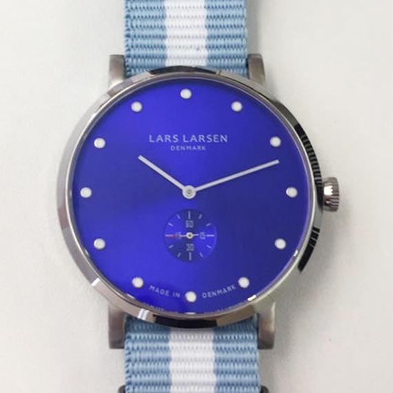 【Fortune Square 特別モデル】LLARSEN LW32 ナイロンストラップバージョン 交換用レザーベルト付  ブルー/132SDDZ N1