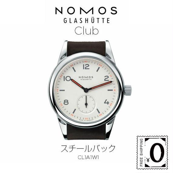 【限定1本!】NOMOS GLASHUTTE Club (クラブ)シースルーバック (CL1A1W2)