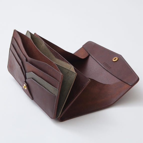 combination long wallet(ダークブラウン×グリージオ)