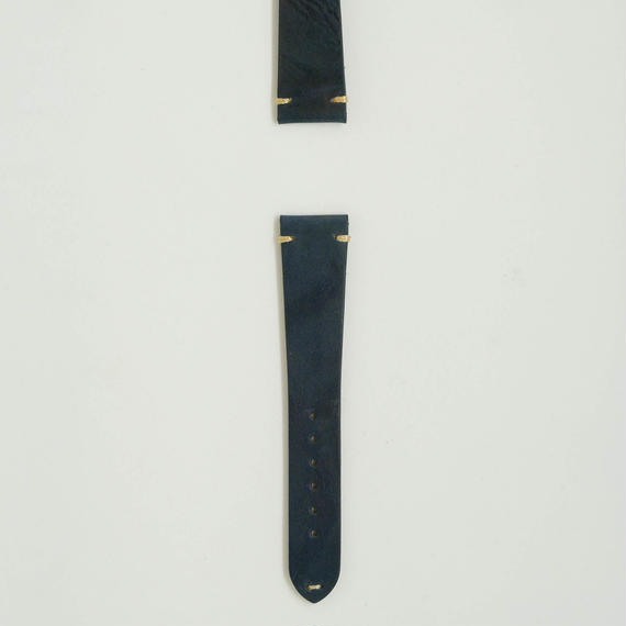 Aging  Leather Strap for ROLEX Navy Blue