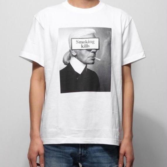 """Smoking kills"" Photo クルーネックTシャツ ~Ver.5~ ホワイト"
