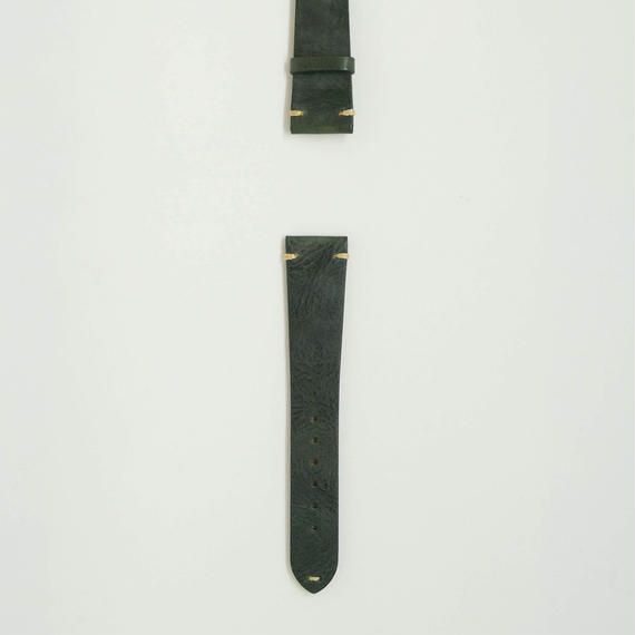 Aging Leather Strap for ROLEX Dark Green