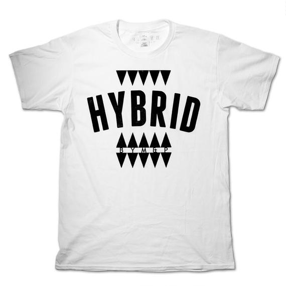 "BYM&P x ""E""qual ""HYBRID"" Collaboration T-shirts <White>"