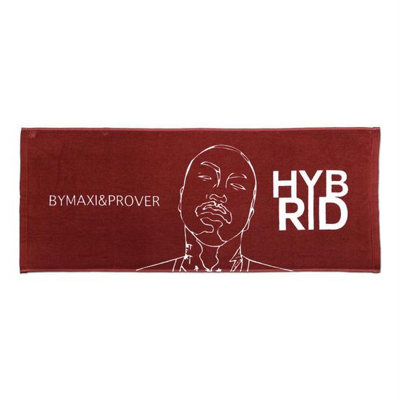 "BYM&P x ""E""qual ""HYBRID"" Collaboration Towel <Dark Red>"