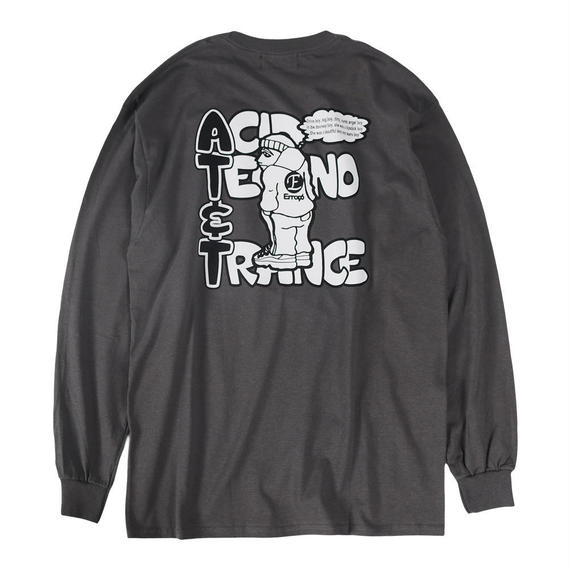 AT&T L/S TEE / CHARCOAL【即納】