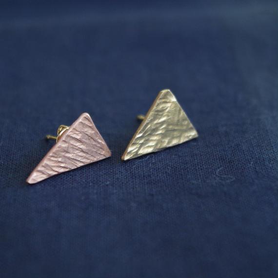 brass and copper pierce-triangle-