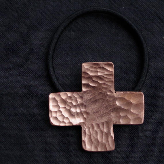 cross copper hair accessory