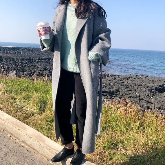 【EruMon】ウールブレンドチェスターコート ウール混 オーバーサイズ ロングコート