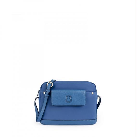 ブルーのナイロン製ショルダーバッグ Laina(895890242)