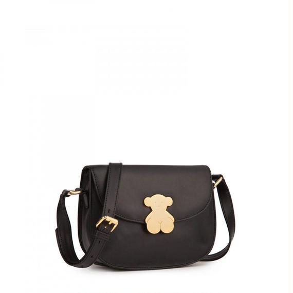 ブラックの革製ショルダーバッグ Rosenda(595890193)