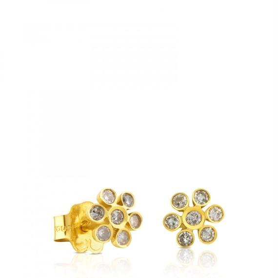 ゴールドにダイヤモンドが付いたピアス Gem Power(812443050)