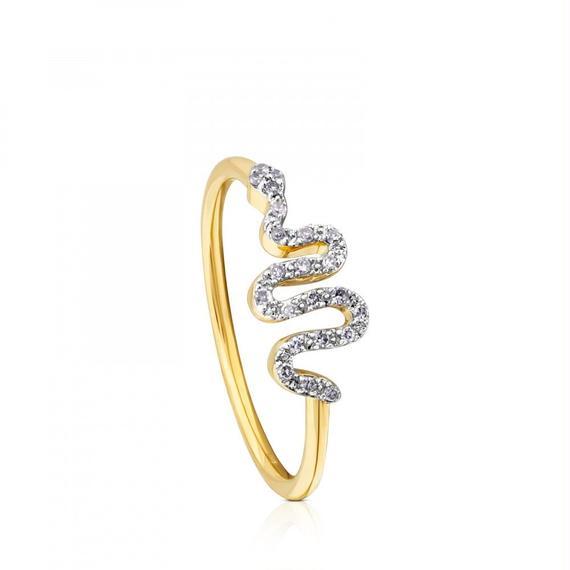 ゴールドにダイヤモンドが付いたリング Gem Power(812445070)