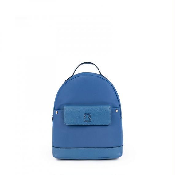 ブルーのナイロン製小型リュックサック Laina(895890245)