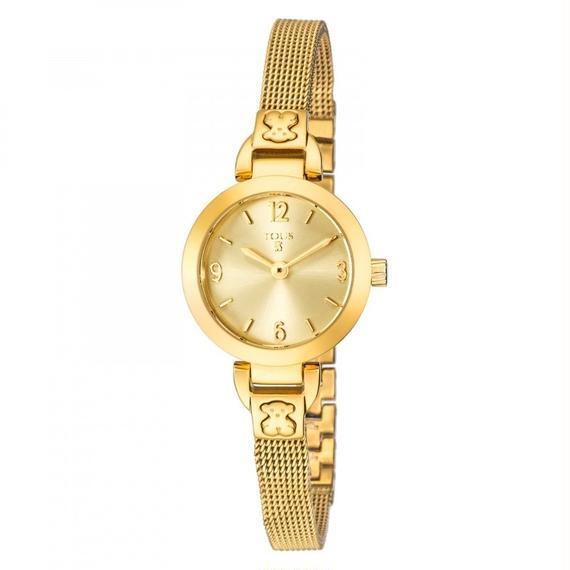 ゴールドのステンレス IP 腕時計 Bohème Mini(400350135)