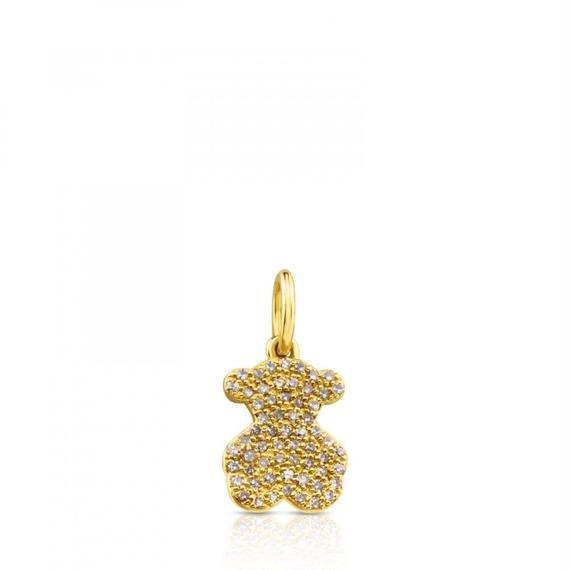 ゴールドにダイヤモンドが付いたペンダントトップ Gem Power(812444040)
