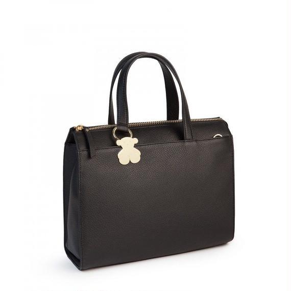 ブラックの革製シティバッグ Rosenda(595890196)